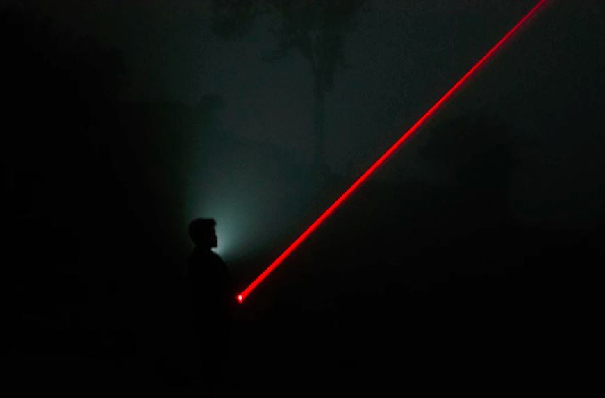 Outdoor with laser